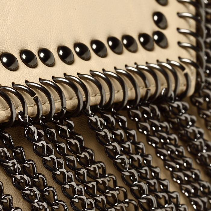 NWT Mental Chain Tassel women's Shoulder Bag / Camel
