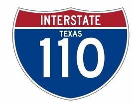 Interstate 110 Sticker R1979 Texas Highway Sign Road Sign - $1.45+