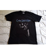 Crosby Stills & Nash Shirt Vintage tshirt 1984 Concert t-shirt gildan re... - $23.99+