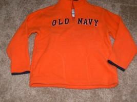 Old Navy Orange fleece 1/4 zip pullover Sweater Boys Size S 6-7  - $7.99