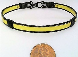 Gold Anodized Aluminum Black Copper Wire Wrap Bracelet 5 - $13.00