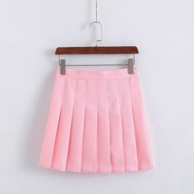 Girls Pleated School Style Skirt Short A-line Pleated Skirt, Red, Pink(US0-US16) image 6