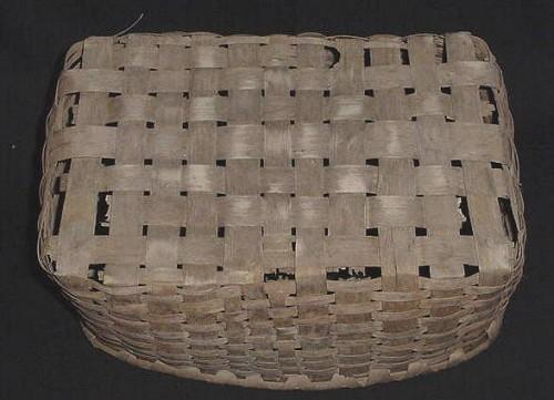 Antique Double Handled Split Ash Basket
