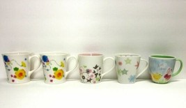 STARBUCKS COFFEE COMPANY MIXED LOT (5) 2005 - 2007 GEO FLORAL BUNNY CUPS... - $63.37