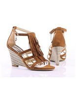 "NWT 2011 Women's Wedge Sandals 3.3"" HEEL CAERPH... - $46.00"