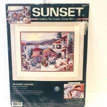 Sunset Cross Stitch Kit Seaside Leisure 13955 Erin Dertner ~ New Sealed - $59.99