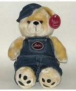 1/2 Price! SKM Cherish Collection Denim Overall Plush Bear NWT - $8.00