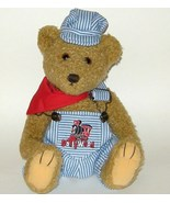 1/2 Price! Dollywood Train Engineer Denim Overall Plush Bear NWT - $6.00