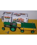 Tractor And Trailer New Boxed Wind Up Toy Vintage 60 - £76.74 GBP