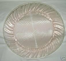 Jeannette Glass Swirl Pattern Pink Sandwich Platter - $19.75