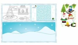 Christmas Winter Party 8 pc Fun Kids Placemat Activity Kit Stickers - $4.39