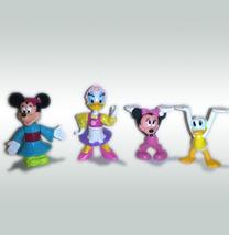 Walt Disney Set of (4) Epcot 1993 Plastic Figures * Minnie DONALD Daisy ... - $4.88