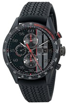 Tag Heuer Men's CAR2A83.FT6033 Carrera Automatic Chronograph Black Rubbe... - $6,831.75