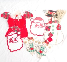 Christmas Quilted Patches Craft Decoration Angel Snowman Santa Embassy T... - $7.65