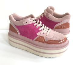 Ugg Pop Punk Sneaker Pink Crystal Platform Lace Shoes Us 9.5 / Eu 40.5 / Uk 7.5 - $107.53