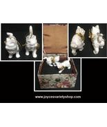 1988 Enesco Kitty Cat Iridescent Ornaments Ceramic - $15.99