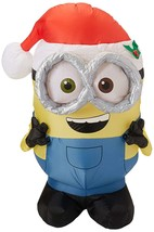 """Christmas Home Outdoor 42"""" Inflatable Airblown Merry Minion Bob with San... - $61.63"""