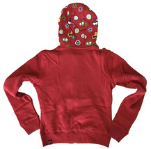 UGP Sweets Womens Cropped Maroon Red Fruity Yummy Goodies Zip Up Hoodie NWT image 2