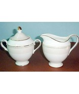 Wedgwood by Barbara Barry Radiance Sugar Bowl & Creamer Gold Dots New - $89.90