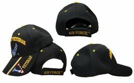 """U.S. Air Force Hat USAF Veteran Vet """"V"""" Black Embroidered Cap Licensed - $21.77"""