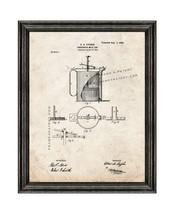 Condensed Milk Cup Patent Print Old Look with Black Wood Frame - $24.95+