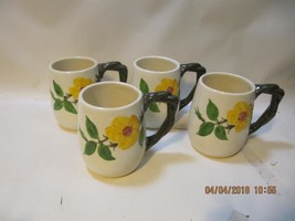 4 Vintage Franciscan Mountain Rose Grandma Mugs rare hard to find number marks - $99.00