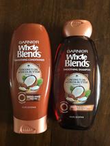 Garnier Whole Blends Shampoo &Conditioner 12.5oz Each Coconut Oil & Coco... - $15.84