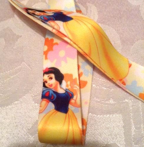 Disney Princess Snow White Lanyard Strap One Piece Cell Phone Key Chain NEW