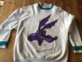 Wile E Coyote WARNER BROS. SWEATSHIRT SIZE XL  Made In USA rare - $25.64