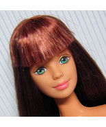 Mackie Face Barbie Long Hair Brunette w Dark Copper for OOAK Display or Play - $12.00