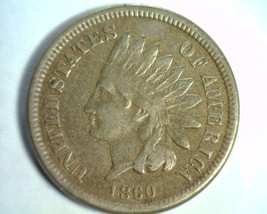 1860 Indian Cent Penny Very Fine / Extra Fine VF/XF Very Fine / Extremely Fine - $58.00