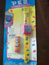 PEZ Watch and Candy Dispenser Vintage, Dream Castle, 1995, Yellow & Pink - $19.75
