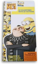 Despicable ME 3 Valentine's Day 32 Cards and Tattoos by Paper Magic Group - $3.99