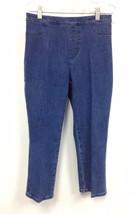 New Isaac Mizrahi Stretch Waist Band Blue Denim Capri Pants Regular & Pl... - $18.00