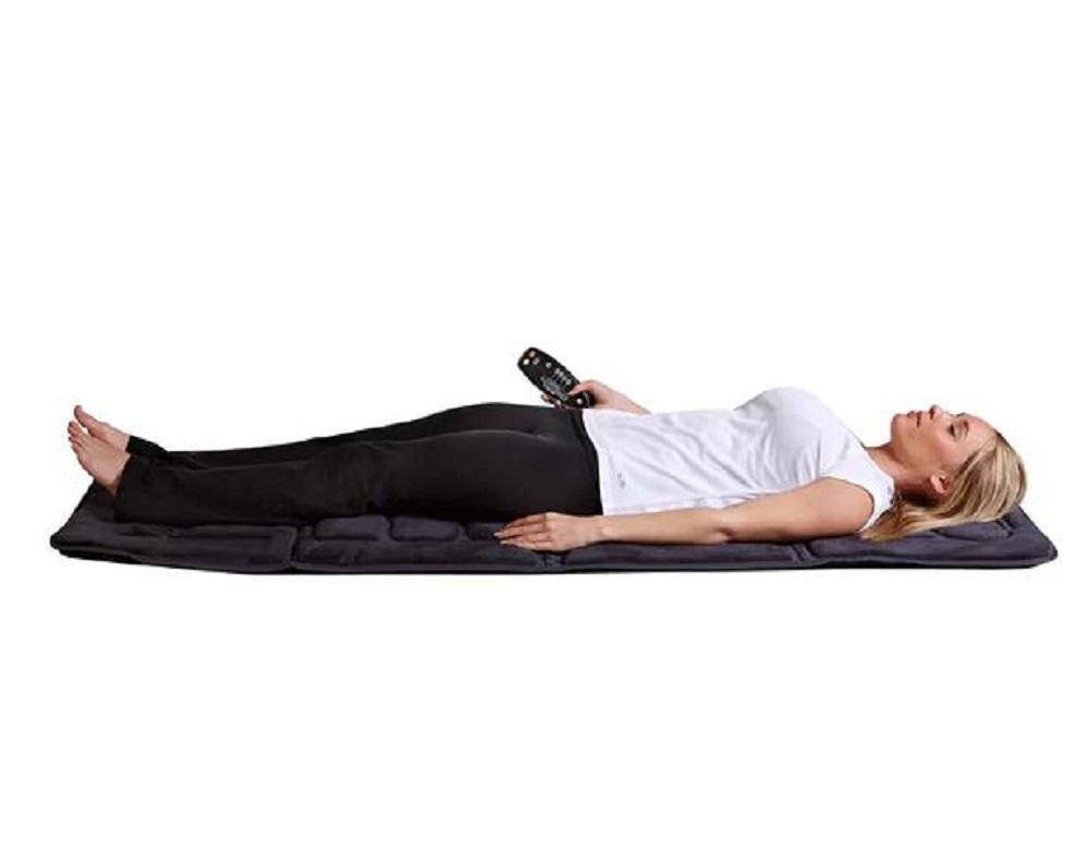 Full Body Massage Mat Heating Pad Vibrating Heat Cushion Lumbar Back Pain Relax