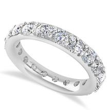 2.85 Ct Round Cut White Real Diamond 14K Gold Full Eternity Wedding Band... - €1.140,26 EUR
