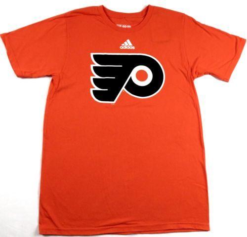 Philadelphia Flyers Shirt Men's NHL Primary Logo Tee adidas Cotton T-Shirt