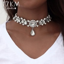 17KM® Boho Collar Choker Water Drop Crystal Beads Necklace & Pendant Vin... - $8.74