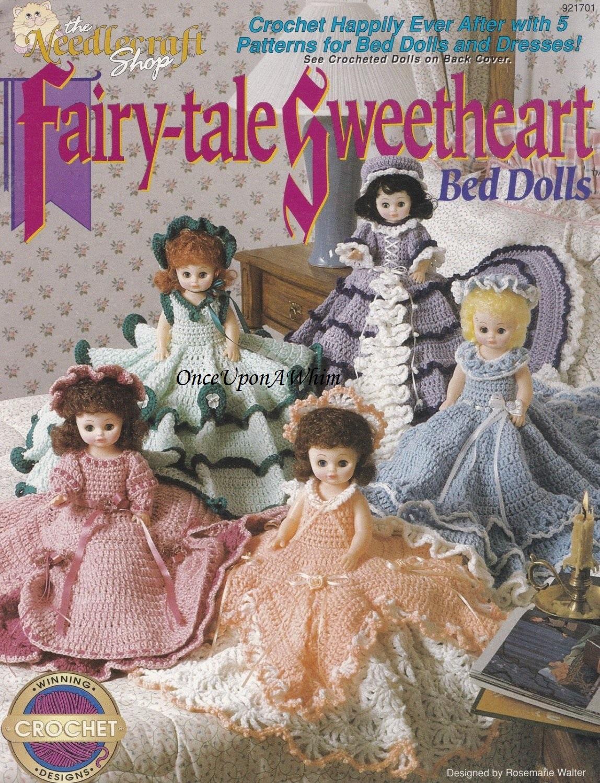 Fairy-tale Sweetheart Bed Dolls, The Needlecraft Shop Crochet Patterns 921701