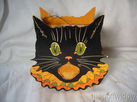 Bethany Lowe Halloween Sassy Cat, Owl and Pumpkin Small Buckets no. LC3671 image 5