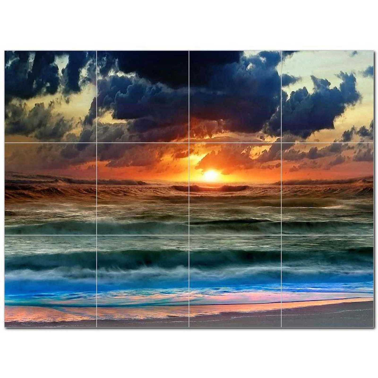 Primary image for Sunset Photo Ceramic Tile Mural Kitchen Backsplash Bathroom Shower BAZ405922