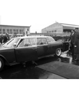 President John F. Kennedy sits in bubbletop Lincoln limousine New 8x10 P... - $8.81