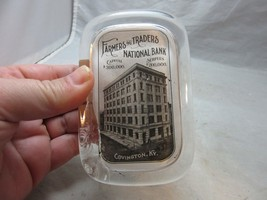 Vintage advertising paperweight. Farmers & Traders National Bank. Coving... - $17.09