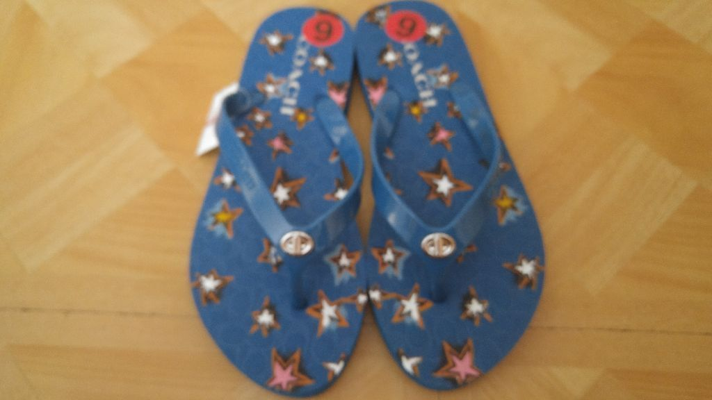 e5b25244f75a0 COACH womens 6 Blue Flip-Flops New and 50 similar items. S l1600