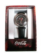 Coca-Cola Accutime Spinner Watch 22 MM Black Vinyl Band - BRAND NEW - $14.80