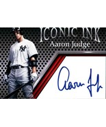 Aaron Judge Iconic Ink Facsmile Autograph Mint New York Yankees - $5.94