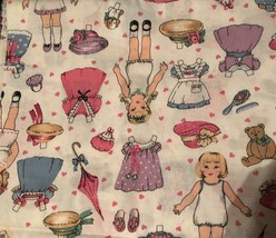 Paperdolls & Clothes on White ~ 1994 Fabric Traditions Cotton Fabric ~ - $22.05