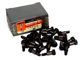 BOX OF 25 NEW UNBRAKO 1/4X3/8 SOCKET SHOULDER SCREWS