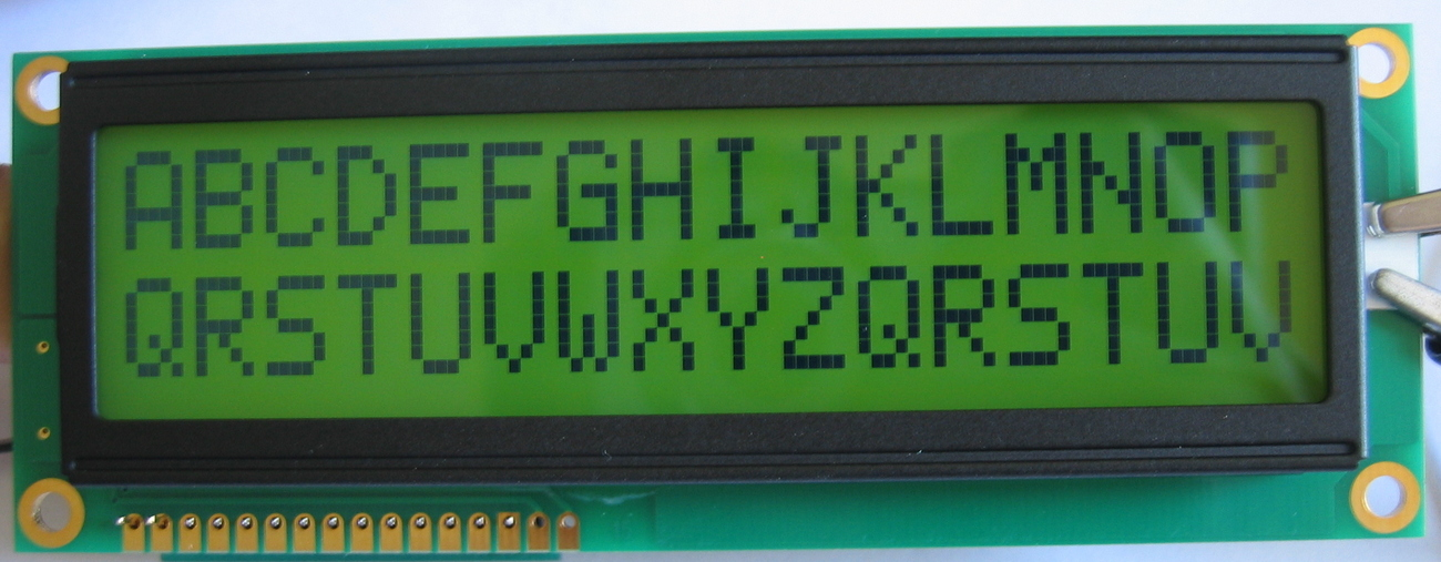 16x2 Large Font Yellow HD44780 STN LCD w/LED Backlight