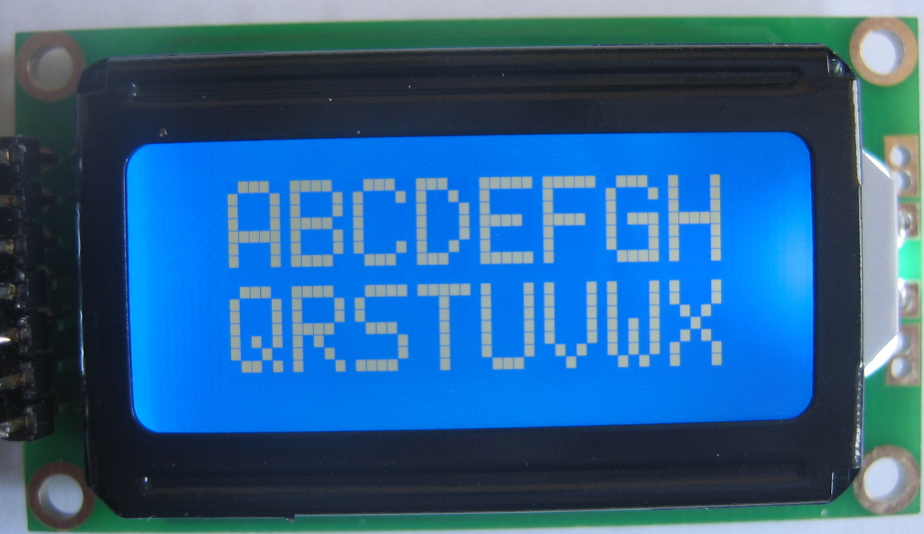 8x2 Blue HD44780 STN LCD w/LED Backlight